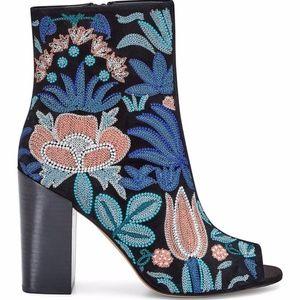 Rebecca Minkoff Billie Embroidered Suede Boot NWOB